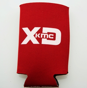 XD SERIES LOGO CAN KOOZIE RED