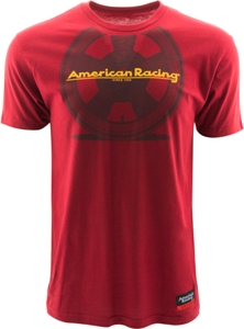 "AMERICAN RACING ""TT WHEEL"" TSHIRT - RED OR CHARCOAL MAIN"