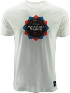 "AMERICAN RACING 60 YEARS ""KALEIDOSCOPE"" TSHIRT  - WHITE OR CHARCOAL_MAIN"