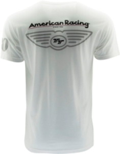 "AMERICAN RACING ""IN THRUST WE TRUST"" TSHIRT - WHITE OR BLACK SWATCH"