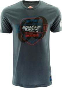 "AMERICAN RACING 60 YEARS ""SHIELD"" TSHIRT - LT. GREY OR CHARCOAL Mini-Thumbnail"