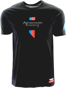 "AMERICAN RACING ""CORPORATE"" LOGO - BLACK THUMBNAIL"
