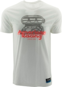 "AMERICAN RACING ""BLOWER"" TSHIRT - WHITE OR CHARCOAL_MAIN"