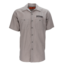 "KMC ""RED KAP BRAND"" WORK SHIRT - GREY OR BLACK MAIN"