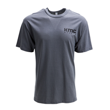 "KMC ""STANDARD"" LOGO TSHIRT - GREY OR BLACK SWATCH"