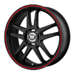 MR117 - MATTE BLACK W/ RED