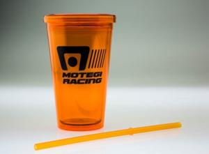MOTEGI RACING LOGO ORANGE PLASTIC TUMBLER CUP