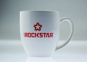 XD ROCKSTAR LOGO COFFEE MUG WHITE