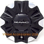 KMC 678 SPLINTER GLOSS BLACK 497L178-B001 CENTER CAP THUMBNAIL