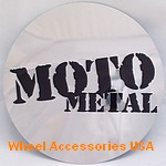MOTO METAL 8 LUG ROUND CHROME LOGO