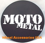 MOTO METAL MEDIUM ROUND BLACK LOGO