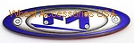 MOTO METAL 8 LUG BLUE OVAL LOGO