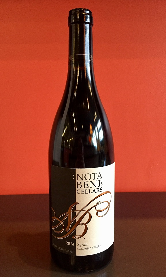 2014 Nota Bene Cellars Syrah MAIN
