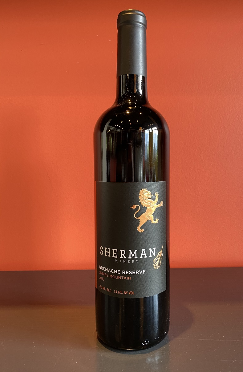 2015 Sherman Winery Grenache Reserve MAIN