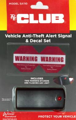 Vehicle Anti-Theft Alert Signal and Decal Set MAIN