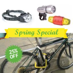 Spring Special Bike Lights & Bike Lock MAIN